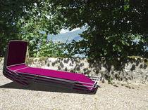 Chaise longue en acier inoxydable / outdoor