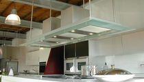 Hotte de cuisine îlot / avec éclairage intégré / design original