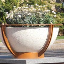 Jardinière en acier / en marbre / en pierre naturelle / ronde