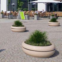 Jardinière en acier inoxydable / en marbre / en pierre naturelle / ronde