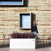 Jardinière en marbre / en pierre naturelle / rectangulaire / contemporaine