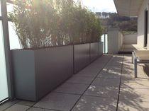 Jardinière en fibro-ciment / rectangulaire / contemporaine / pour espace public