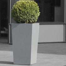Jardinière en fibro-ciment / carrée / sur mesure / contemporaine