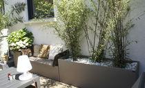 Jardinière en fibro-ciment / rectangulaire / sur mesure / contemporaine