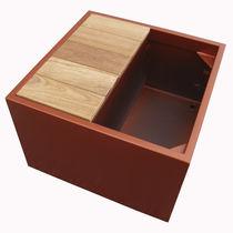 Jardinière en bois / en fibro-ciment / rectangulaire / carrée
