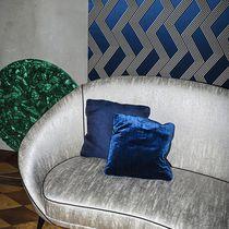 Tissu pour rideaux / à motif géométrique / en soie / en polyester