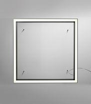 Plafonnier contemporain / carré / en aluminium / à LED