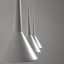 Lampe suspension / contemporaine / en aluminium / en bois