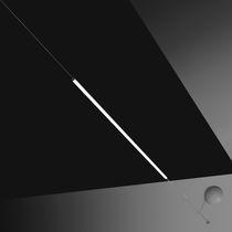 Lampe suspendue / contemporaine / en aluminium peint / en méthacrylate