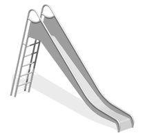 Toboggan droit / pour aire de jeux / en acier inoxydable