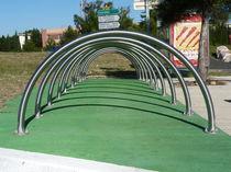 Range-vélo en acier inoxydable / pour espace public