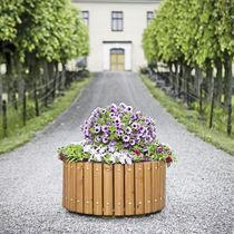 Jardinière en bois / ronde / classique / pour espace public