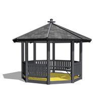 Gazebo en bois / pour espace public