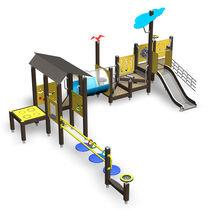Structure de jeu en bois / en HPL / pour aire de jeux / pour personnes à mobilité réduite