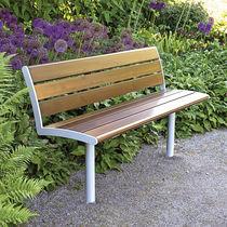Banc public / de jardin / contemporain / en bois
