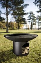 Barbecue à charbon / à bois / sur pied / en acier