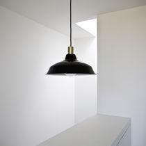 Lampe suspension / contemporaine / en métal / noire