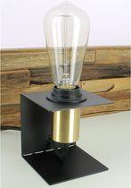 Lampe de chevet / contemporaine / en métal peint / noire