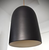 Lampe suspension / contemporaine / en céramique / blanche