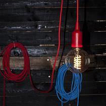 Lampe suspension / contemporaine / en tissu / en ABS