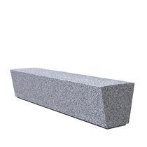 Banc public / contemporain / en acier / en granite