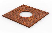 Grille d'arbre en acier COR-TEN® / carrée