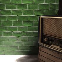 Briquette brillante / verte / de parement
