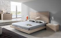 Lit flottant / double / contemporain / avec tête de lit