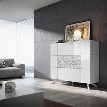 Buffet haut / contemporain / en bois laqué / blanc