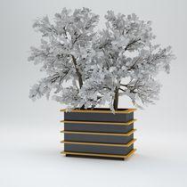Jardinière en métal / carrée / rectangulaire / design original