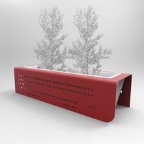 Jardinière en métal / carrée / rectangulaire / contemporaine