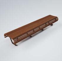 Banc public / contemporain / en bois / en métal peint