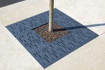 Grille d'arbre en fonte d'aluminium / carrée
