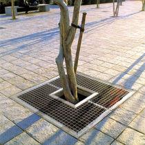 Grille d'arbre en acier galvanisé / carrée