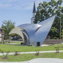 Sculpture en inox / pour espace public / d'extérieur