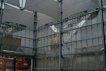Brise-soleil en aluminium / pour façade / perforé