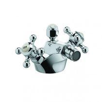 Mélangeur pour bidet / à poser / en métal chromé / de salle de bain