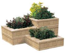Jardinière en béton / carrée / classique