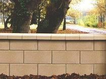 Bloc de béton creux / pour mur de soutènement / haute performance / apparent