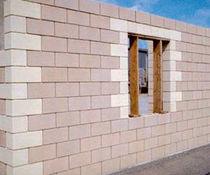 Bloc de béton creux / pour mur porteur / apparent