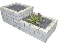 Jardinière en pierre naturelle / carrée / classique / pour espace public
