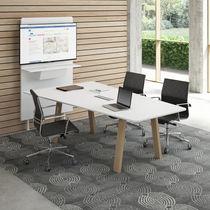 Table de réunion contemporaine / en bois / rectangulaire