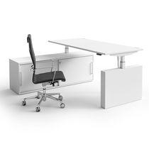 Bureau pour open space / en mélaminé / design original / professionnel