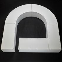 Banc public / contemporain / en plastique / modulaire