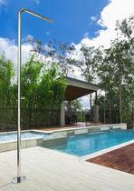 Douche d'extérieur de piscine / en acier inoxydable