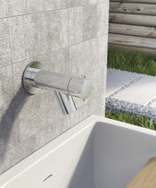 Robinet pour fontaine / mural / en métal chromé / de jardin