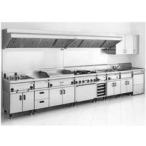 Cuisine contemporaine / en inox / modulaire / professionnelle