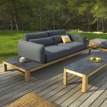 Canapé contemporain / de jardin / en teck / 2 places
