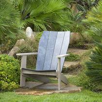 Chaise contemporaine / en teck / adirondack