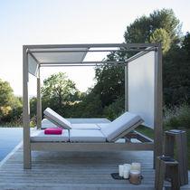 Bain de soleil contemporain / en Batyline® / en teck / professionnel